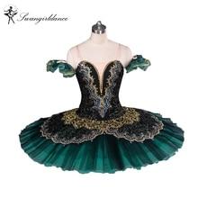 Vuxen Svart Grön La Esmeralda Ballett Tutu Prestanda Professionell Klassisk Ballett Tutus Tjejer Pannkaka Tutu NutcrackerBT8941