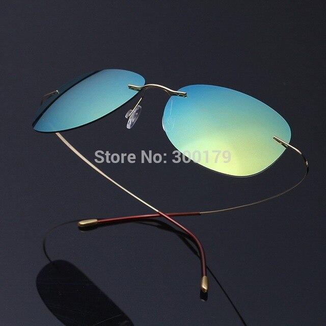 Unisex UltraLight Titanium Rimless Mirror Polarized Sunglasses Sonnenbrille occhiali da sole gafas de sol Oculos de sol feminino