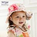 Hhtu bebê flor do sol cap cap sol do bebê do sexo feminino verão princesa cap bebê cap