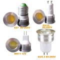 10PCS New 3W Dimmable/No Dimmable MR11 GU10 E27  LED Spot lamps AC85~265V / DC12V Free shipping