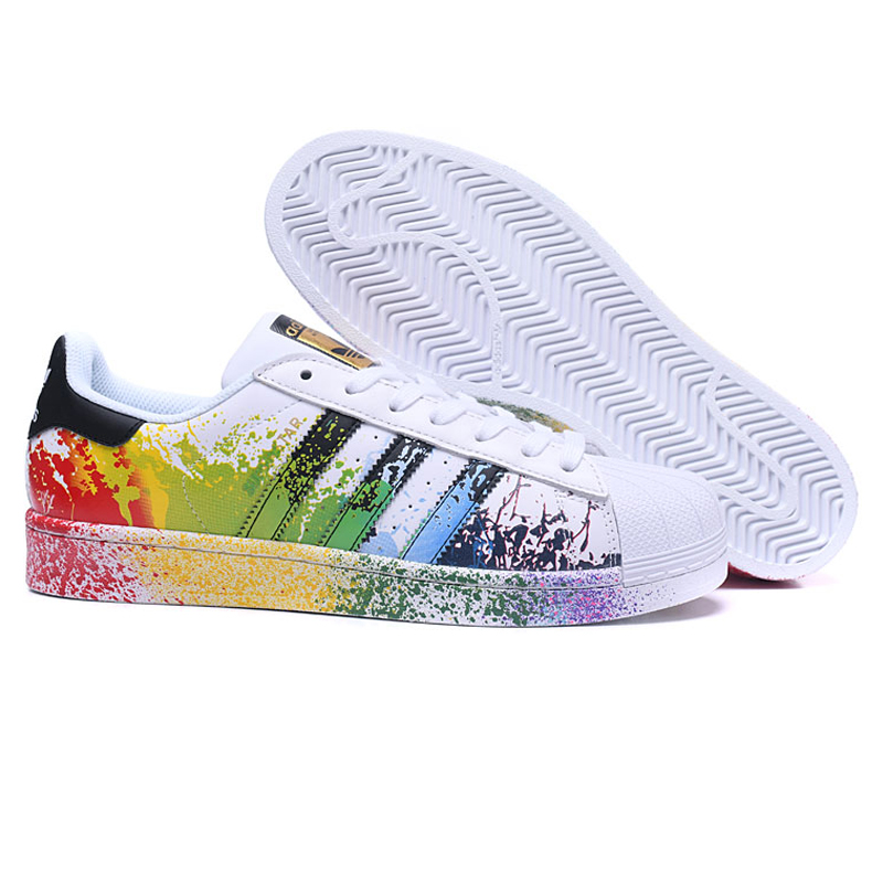 new arrival dbe53 30e77 Adidas Originals Superstar Women s Walking Shoes, Color, Abrasion Resistant  Lightweight Breathable Non slip D70351-in Walking Shoes from Sports ...
