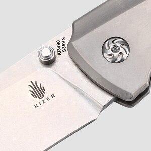 Kizer лучший нож для выживания нож для охоты и кемпинга s35vn лезвие высокое качество ручной инструмент Ki3490 T1