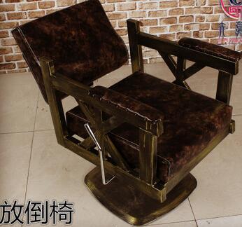 Купить с кэшбэком Custom-made hair cutting chair iron art hair chair and hair salon european-style hair cutting chair shampoo bed.