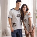 New Arrive Leisure Pajamas Boy Or Girl Cotton Short Sleeve Couples 100% Cotton leisurewear Suit