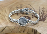 New 100% Real 925 Sterling Silver Bracelet for Men Loom Bands Silver jewelry spring clasp Punk wind a birthday present S113