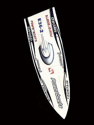 Deep Vee Monohull Racing RC Boat Fiber Glass Bare Hull Only White E36