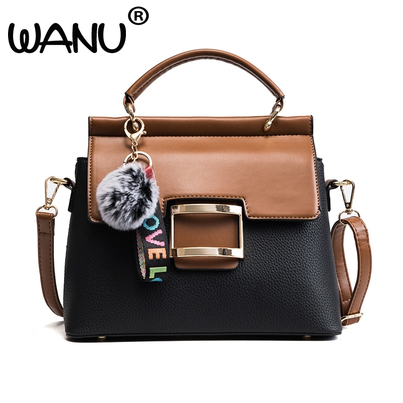 Hot Sale Fashion PU leather Tote Handbag Women lady Small Retro Bag Shoulder Bags Small Lock Bucket Bag Large Capacity Popular hot sale 2016 new fashion women girls winter warm wallet high quality tote bag card pack small hairy bag handbag