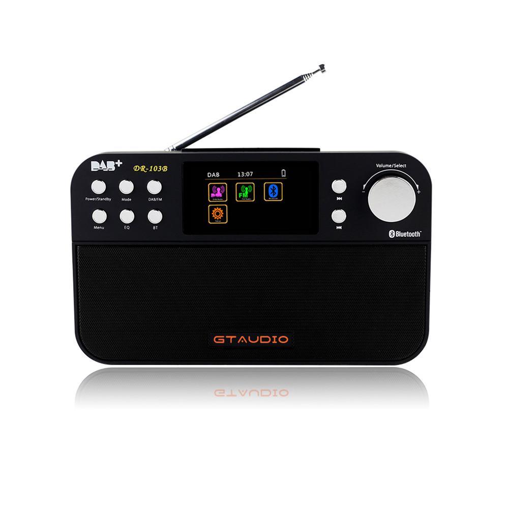 GTmedia DR-103B DAB Receiver Portable Digital DAB FM Stereo Radio Receiver with 2.4 TFT Color Display Alarm Clock Dropship 9.7 цена