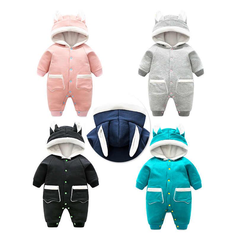 2018 Yeni Hayvan tarzı Bebek pamuk ceket Bebek Giyim Erkek Bebek Kız Giysileri Sevimli Karikatür Kapşonlu Kış sıcak Tulum Kostüm