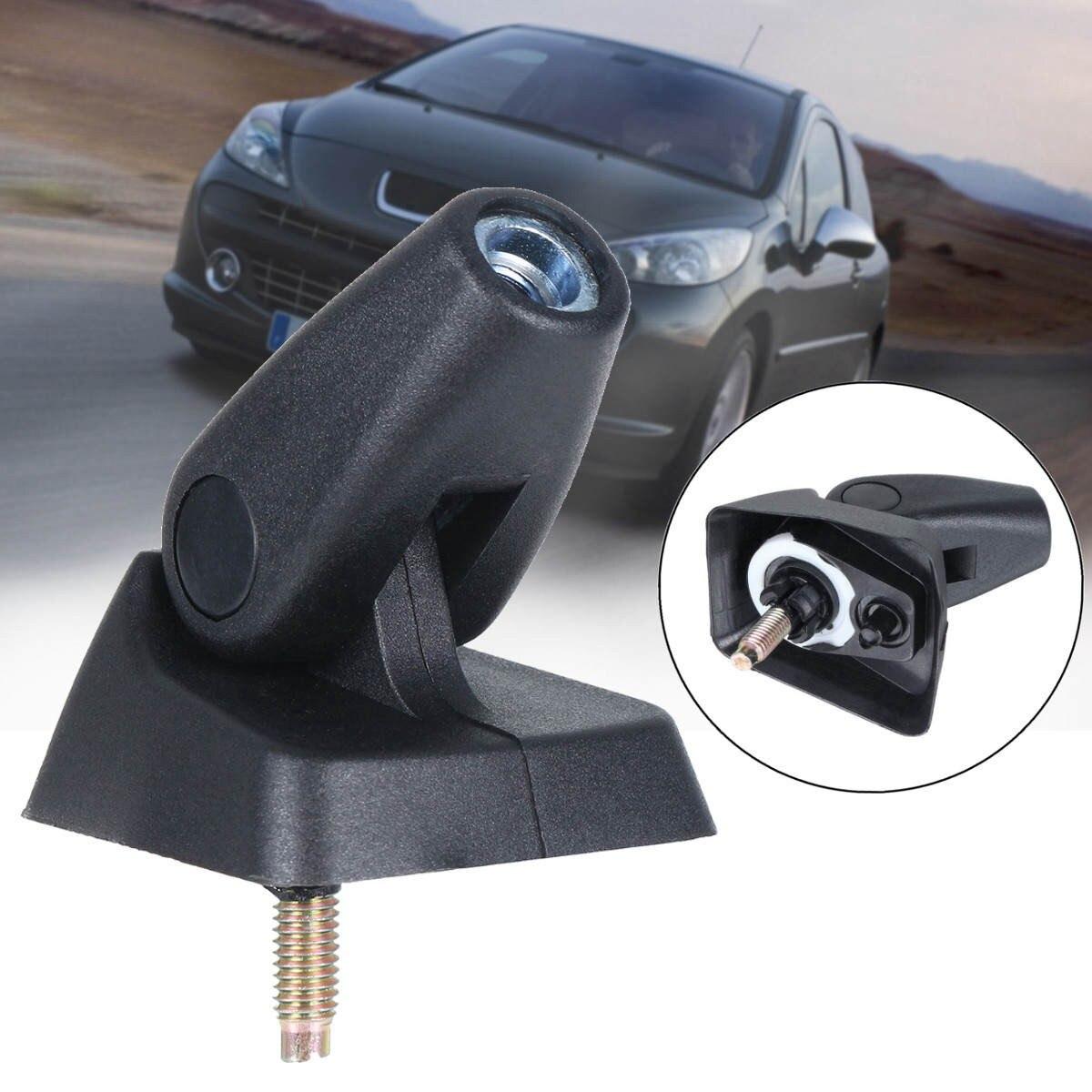 1 pcs abs black automotive car antenna pedestal mounts base for peugeot 206 207 citroen