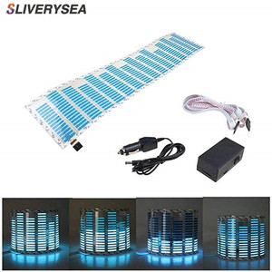 Image 1 - SLIVERYSEA Music Beat Activated Car Stickers Equalizer Glow Blue LED Light Audio Voice Rhythm Lamp