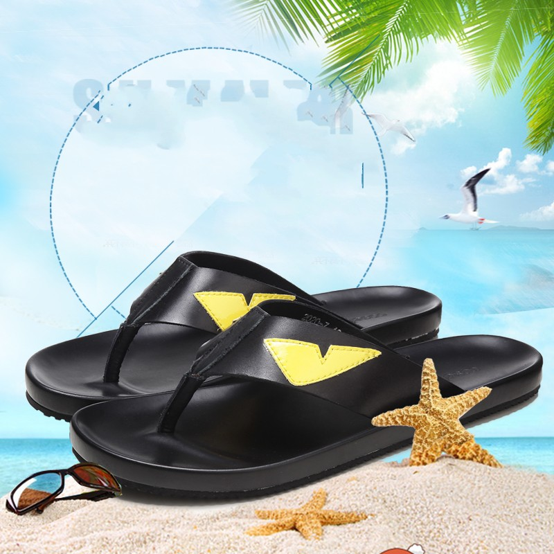 Fashion Monster Flip flops for men Summer Hot Beach Sandals Big Size euro 38 46 - 4