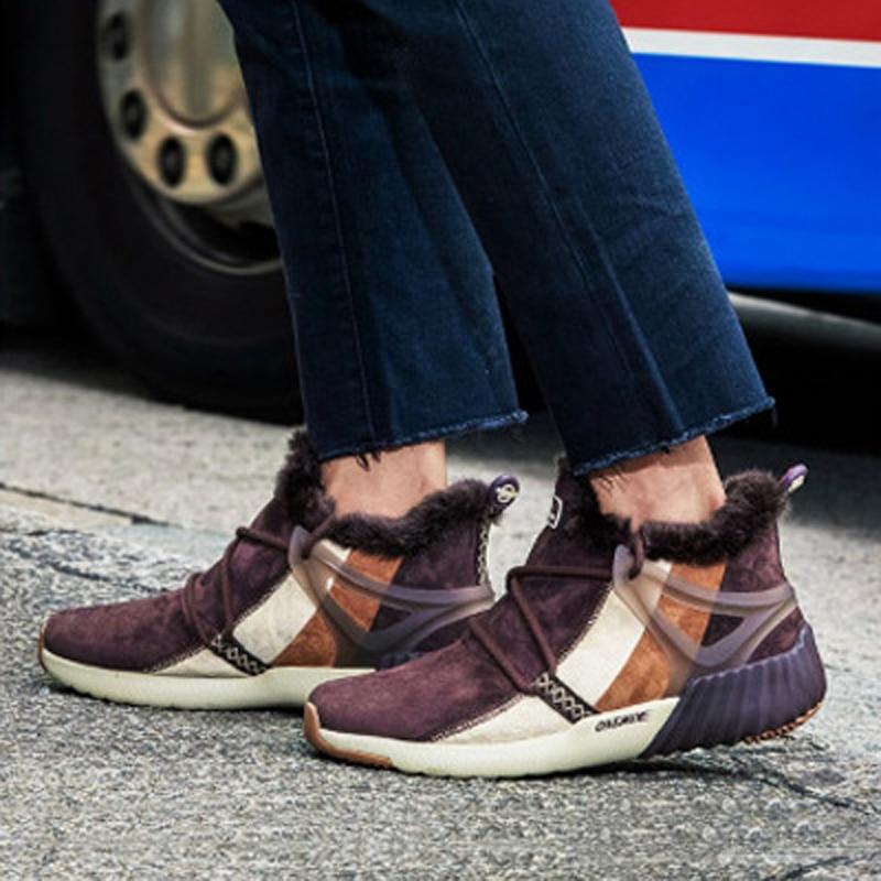 Uomini di modo di inverno stivali deodorante più velluto imitazione stivali di pelliccia di coniglio non-slip odore-resistente scarpe comode scarpe calde