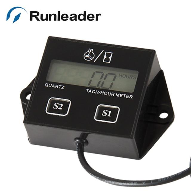 5PCS Inductive DIGITAL TACH RPM Tachometer Hour Meter for 250 Rapt YFM Wr Wrf Dirt Bik Motorcycle ATV Motocross marine RL-HM011N