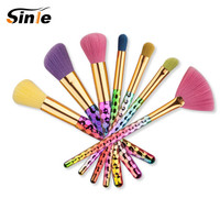 Colorful Unicorn Thread Makeup Brushes Professional Make Up Brushes Fiber Brush Set Makeup Tools Eyebrow Eyeliner