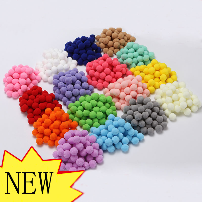 25pcs 20mm Colors Felt Balls Round Felt Balls Pom Poms For Girls DIY Room Party Decoration Colorful Fetl Balls