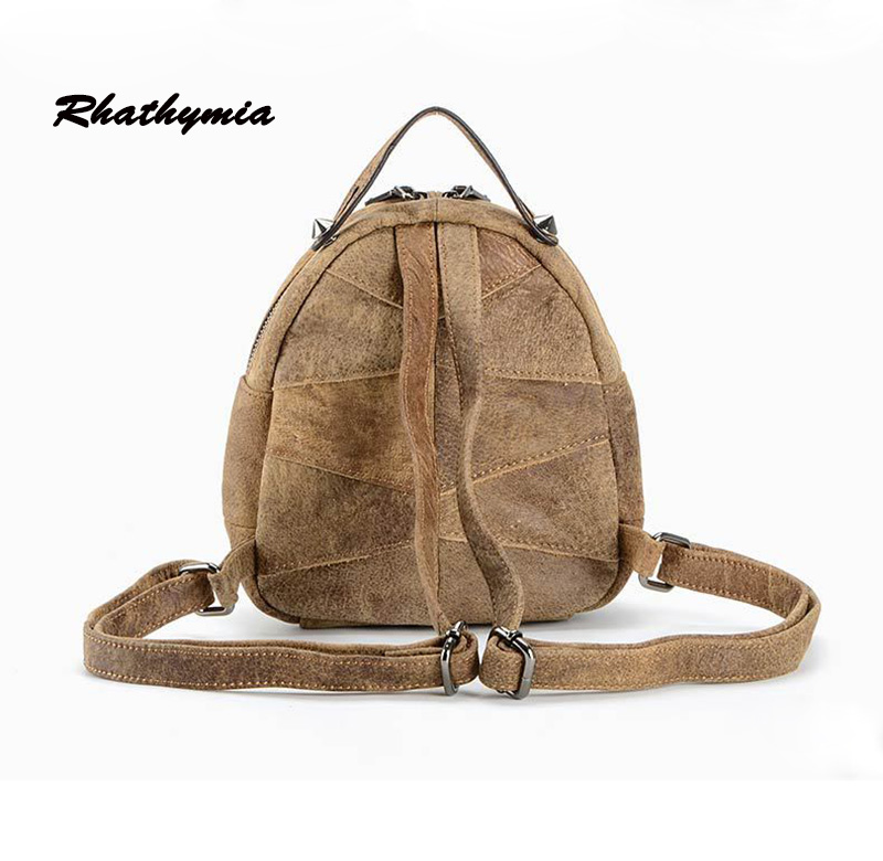 2017 women famous brand backpack girl school bag genuine leather high quality vintage bags