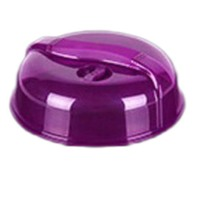 Reusable Plastic Food Cover Microwave Oven Oil Cap Heated Sealed Multifunctional Dish Dishes Dust Dia26cm Height 9cm