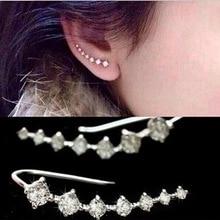 Kittenup 2016 nova moda Sete estrelas Da Moda Jóias Maravilhosamente tipo de linha e linha de Acessórios Brincos Da Orelha para as mulheres EH0282(China (Mainland))