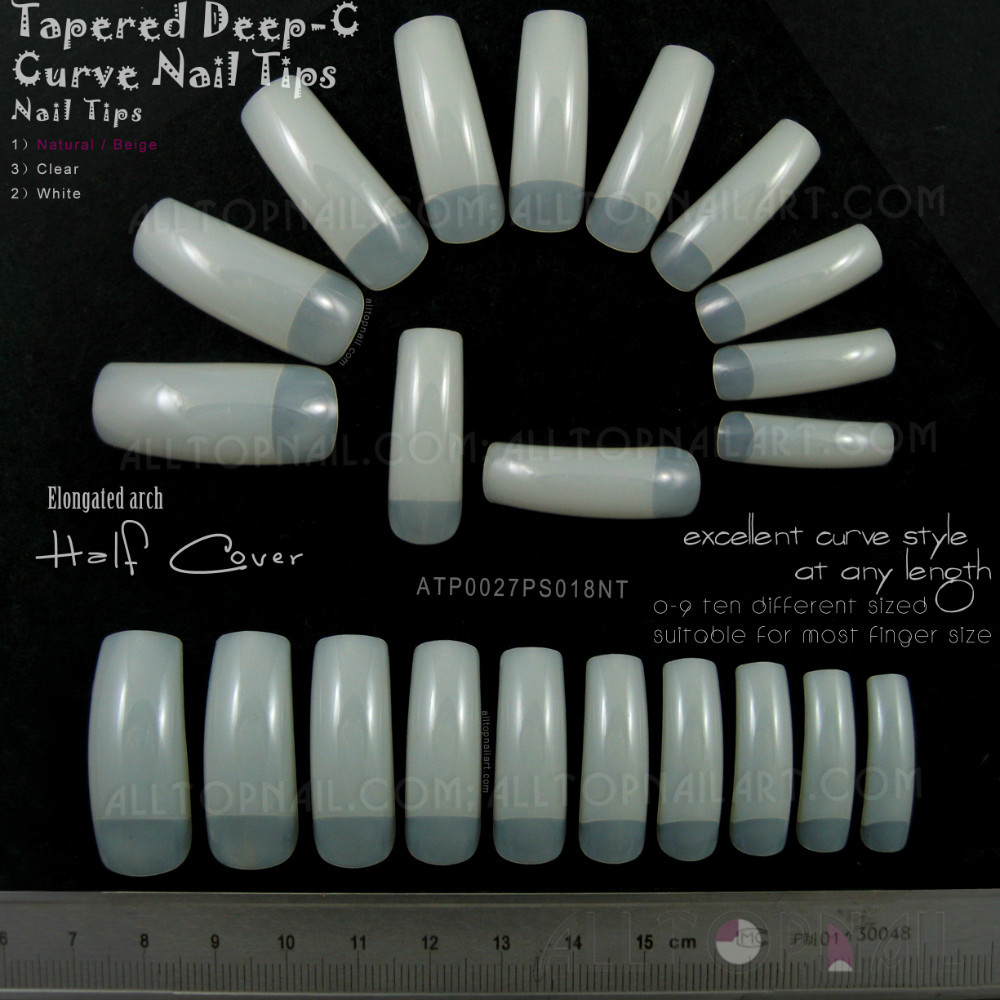 What are curved acrylic nails?