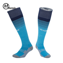Chaussettes de football de qualité chaussettes de football Mens Kids Boys Sports Durable Long adulte Basketball épaississement sox médias de futbol