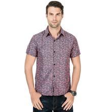 Hawaiian Shirt Mens Clothing Social Shirts Feather Print Blouse Man Short sleeves Slim fit Green Red Gray