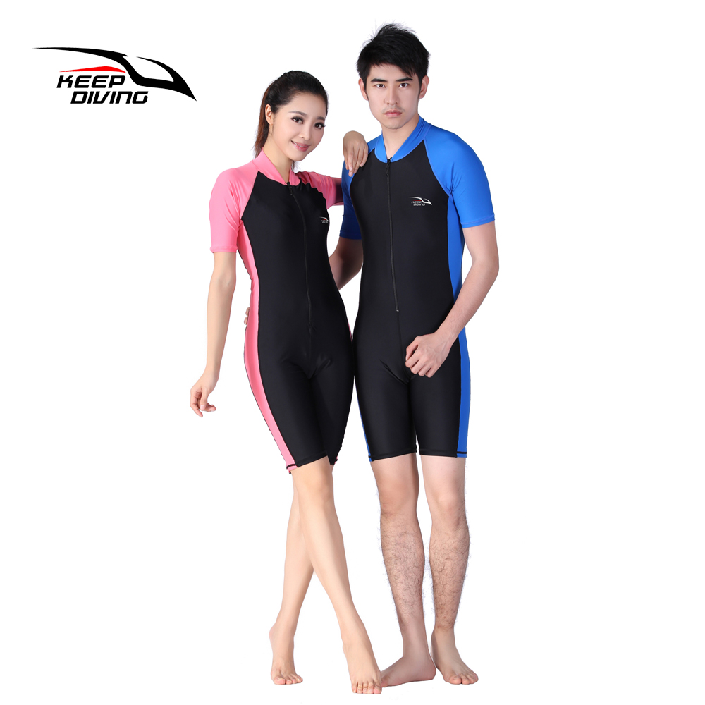 TENUTA DIVING Muta in Lycra Stinger Wet Suit Tuta da sub per uomo o donna Tuta intera manica corta costume intero Swimwear