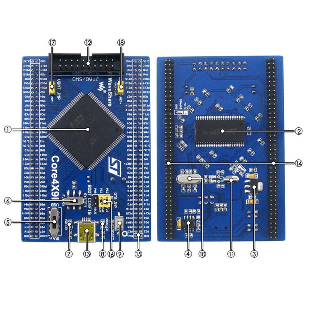 STM32 Core Board Core429I STM32F429IGT6 STM32F429 ARM Cortex M4 STM32 Development Board Kit with Full IOs