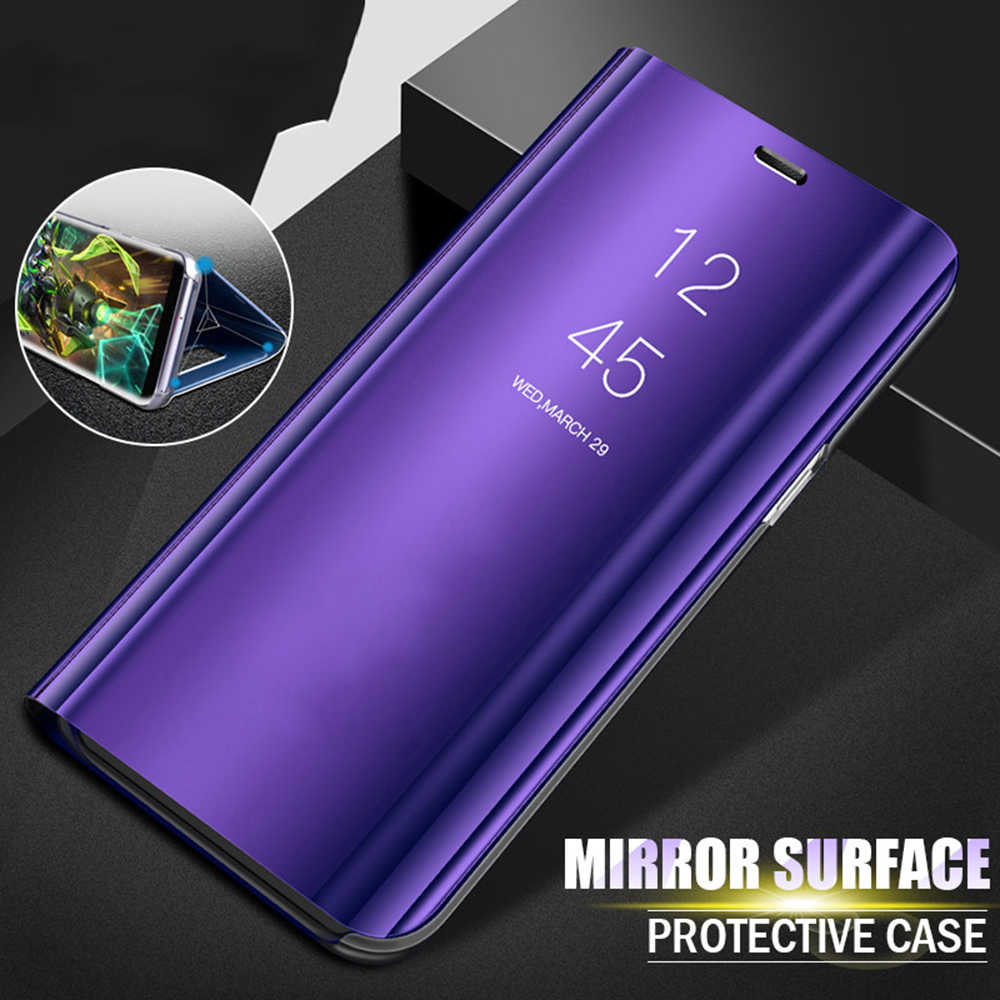 Luxury Mirror Flip Phone Case For samsung galaxy a50 a70 a30 a40 Stand cases on galax a 50 40 70 30 50a 70a 30a 40a coque funda