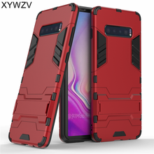 For Samsung Galaxy S10 Plus Case Armor Rubber Hard Back Phone Cover Fundas