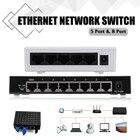 1Pcs 5V 5-Ports 8-Ports RJ-45 10/100Mbps Gigabit Ethernet Network Switch Internet Hub for TV Computer Games