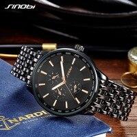 2016 SINOBI Watch Men Quartz Watch Luxury Brand Full Steel Men S Watch Clock Male Waterproof