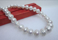 free shipping >HUGE 13 12MM SOUTH SEA NATURAL WHITE PEARL NECKLACE 18 INCH CLASP K