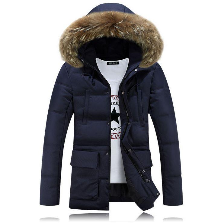 HCBLESS Hombres invierno Nagymaros cuello abajo algodón abrigo Moda - Ropa de hombre - foto 1