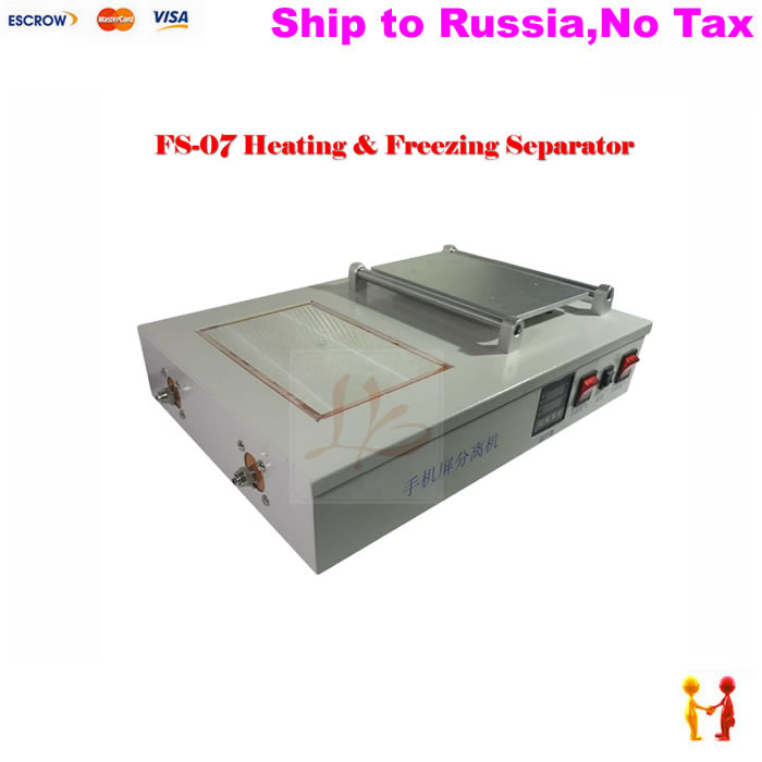 (NO TAX TO Russia) Professional mobile repair liquid nitrogen frozen and heating machine build-in vacuum pump 1000W fs 06 liquid nitrogen frozen separator 2 in 1 pack built in oil free pump with 10l liquid nitrogen tank 220v 300w