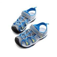 SKHEK Boys Sandals New Kids Summer Shoes Hook & Loop Closed Toe Toddler Girl Orthopedic Sport Air Mesh Baby Size