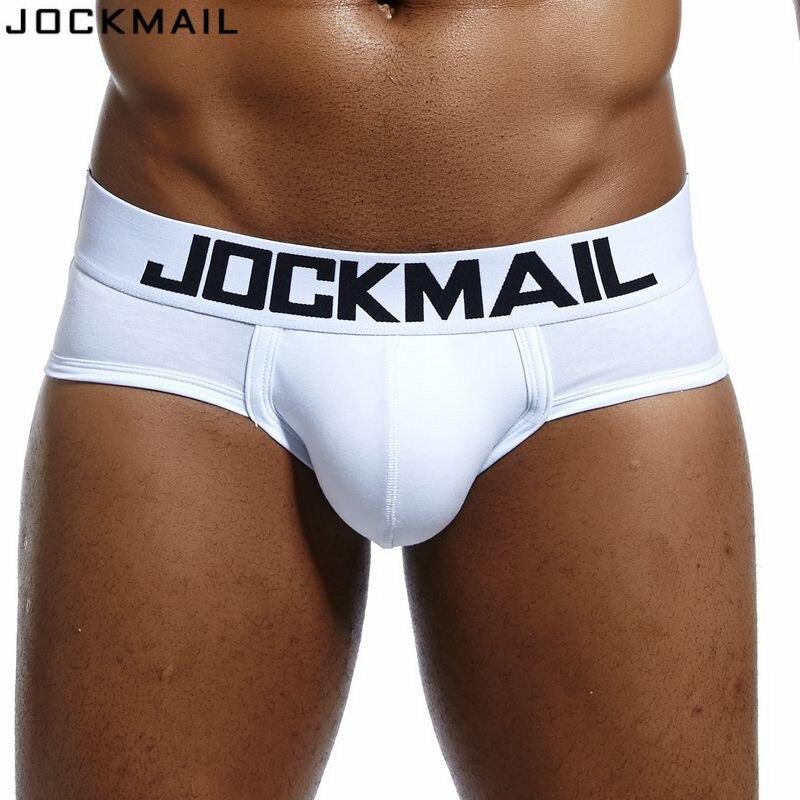 Buy JOCKMAIL Brand Mens Underwear briefs Sexy cuecas calzoncillos hombre slip Gay Sleepwear Breathable Cotton Male Panties shorts