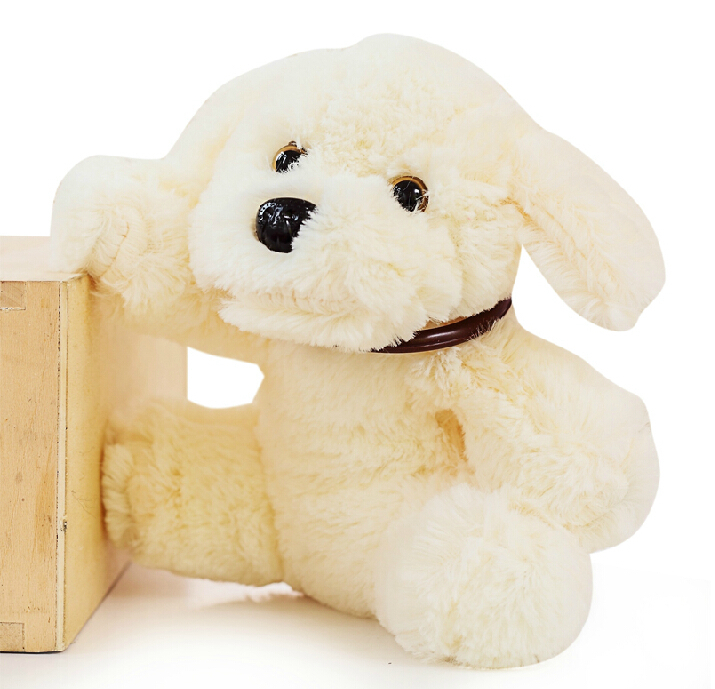 20cm Lovely White Dog Plush Soft Stuffed Doll Toys For Kids House Decoration Gifts Harmonious Colors
