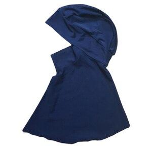 Image 4 - Haofan Muslimischen Schwimmen Hijab Hut Islamischen Kopf Tragen Hals Abdeckung Muslimischen One größe Schwarz Hut