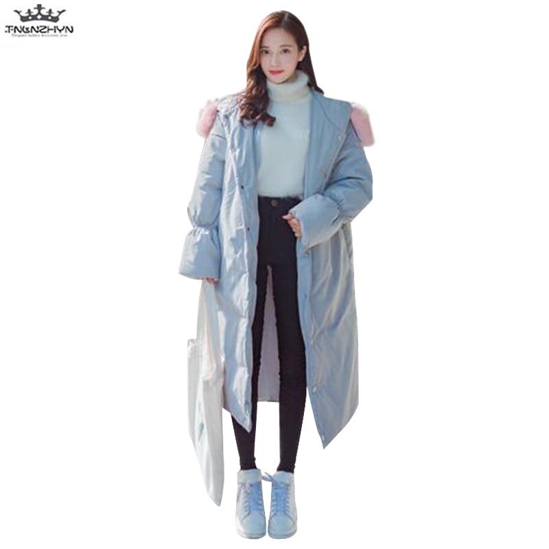 6d4927483c4e0 Tnlnzhyn Y773 Femmes Fourrure Photo Coton Veste Femme De Manteau Section  Capuchon À Bas D'hiver Mode ...