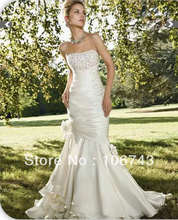 2013 new style hot sale Sexy  bride wedding sweet princess beading flowers Custom size  wedding dress