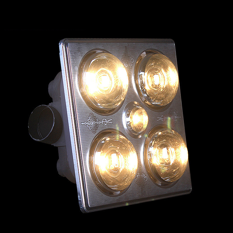Светодиодный Панель потолочный светильник люстра Многофункциональный Ванная комната встроенный Ванна Юба встроенный Юба 4 свет, отопление