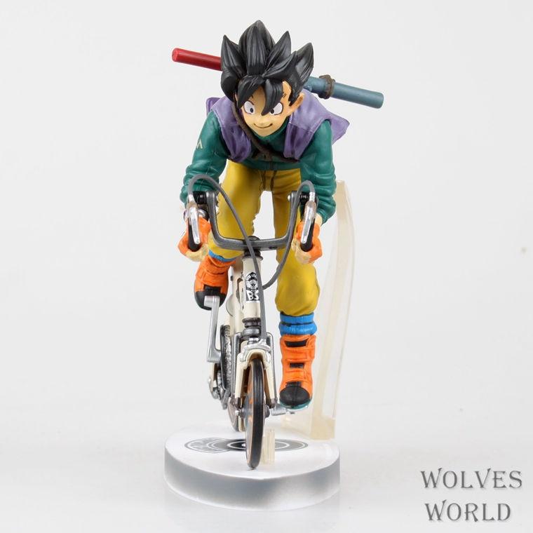 HKXZM Anime Dragon Ball Z 23CM Son Goku Bike Riding PVC Figure Model Brinquedos Doll Christmas Gift Collectible Toy