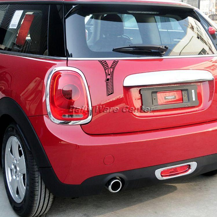 1pc Funny Zipper Graphic Car Sticker Reflective Zip Shape Auto
