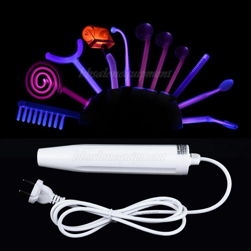 Высокая частота с 11 шт. электроды Пятновыводитель для кожи устройства уход за кожей лечение акне удаления морщин Красота машины