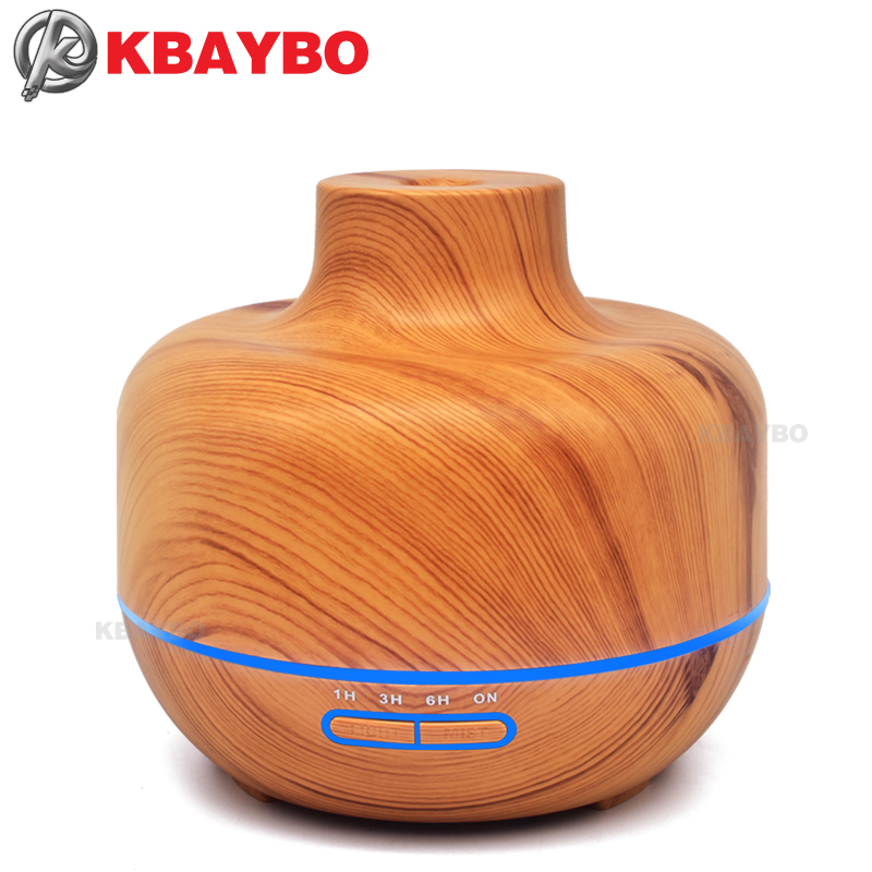 KBAYBO 400ml Essential Oil Aroma Diffuser Wood Grain Ultrasonic Aromatherapy Cool Mist Humidifier For Home Living Room