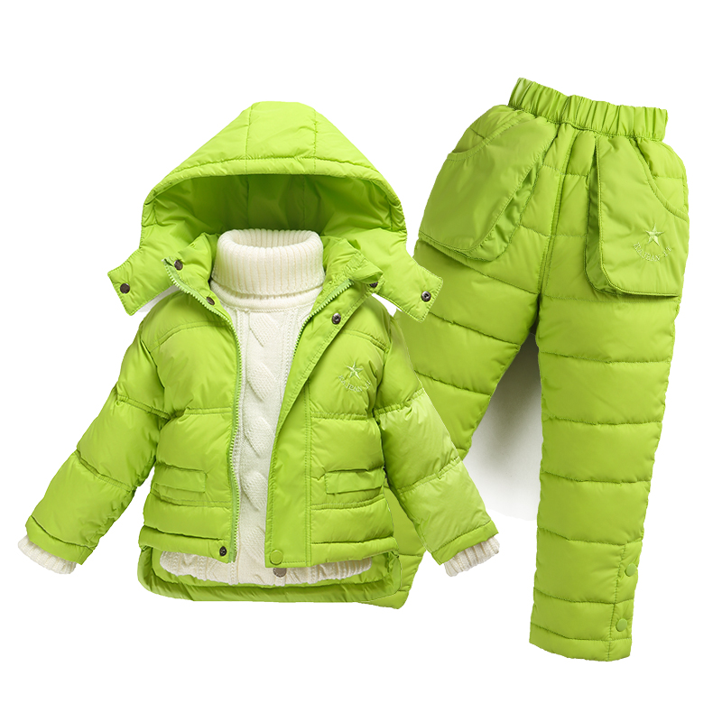ФОТО Children's suit jacket 1-2 years old baby boy 3-4 down thin section baby warm jacket winter new girls