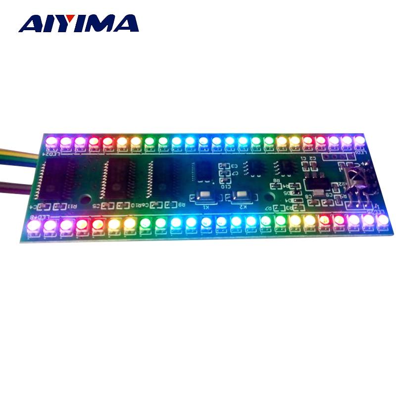 Aiyima 5V מחוון רמת VU Meter מגבר RGB לוח MCU - דף הבית אודיו ווידאו