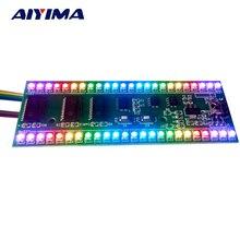 Aiyima 5 V indicador de nivel de Metro VU RGB Amplificador Junta MCU Pantalla Ajustable Patrón de Amplificadores de Canal Dual 24 LED DIY