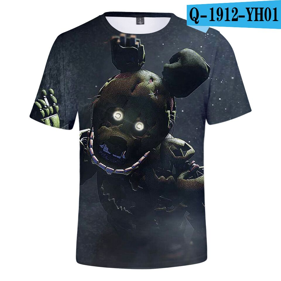 Short-Sleeve T-Shirt Fashion Boy/girl Cartoon Five-Nights Summer At Freddy Classic 3d-Print